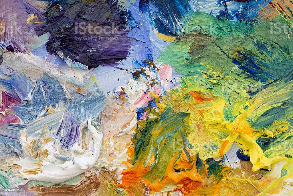 Artists paint palette vector art illustration
