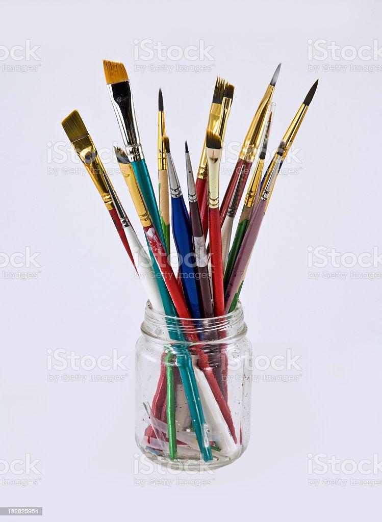Artist's Paintbrushes- Isolated stock photo