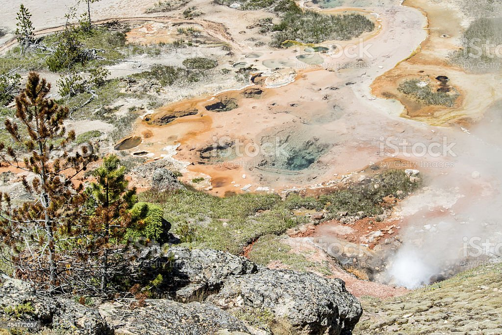 Artists Paintpots of Yellowstone National Park royalty-free stock photo