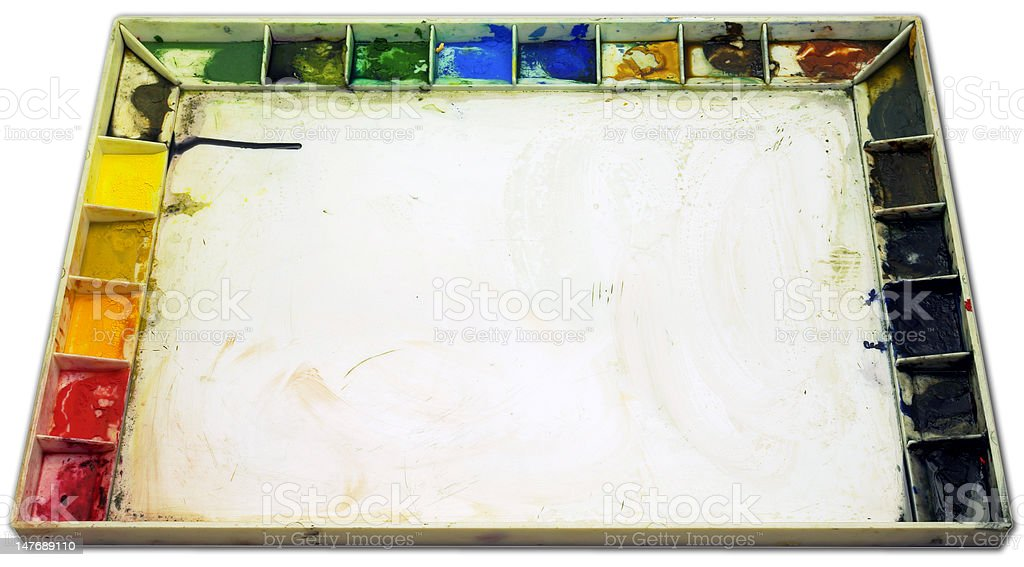 Artist's Palette and Paint royalty-free stock photo