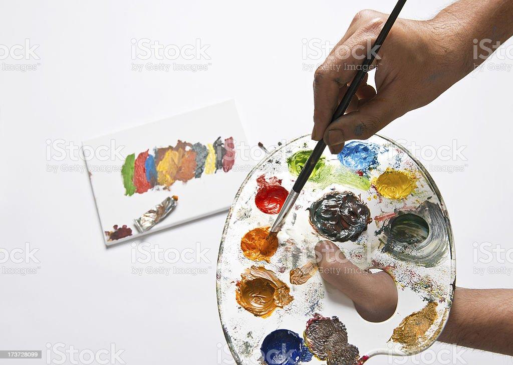 Artist's Palette royalty-free stock photo
