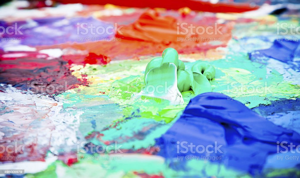 Artist's palette royalty-free stock photo