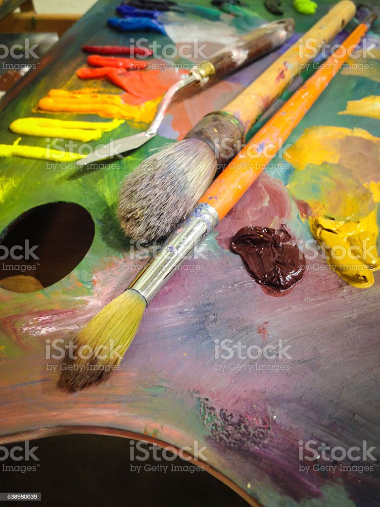 Artist's palette stock photo