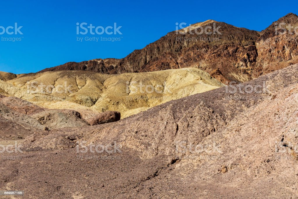 Artist's Palette Rock Formation - Death Valley National Park, California stock photo