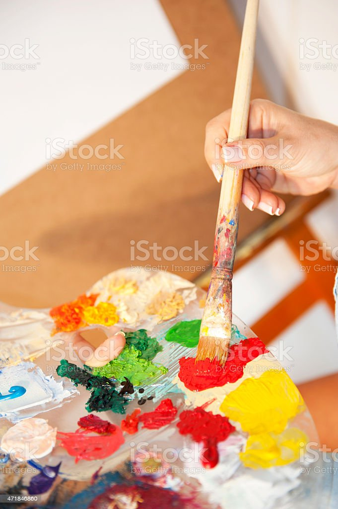 artist's pallette stock photo
