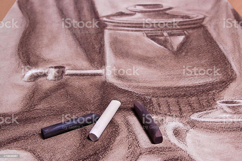 Del artista original tonos pastel y pastel de vida. illustracion libre de derechos libre de derechos