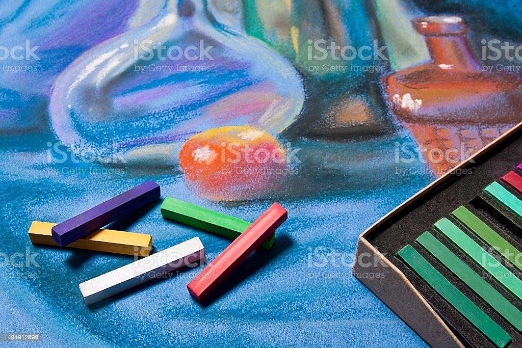Tonos pastel y originales de artistas pastel de vida. foto de stock libre de derechos