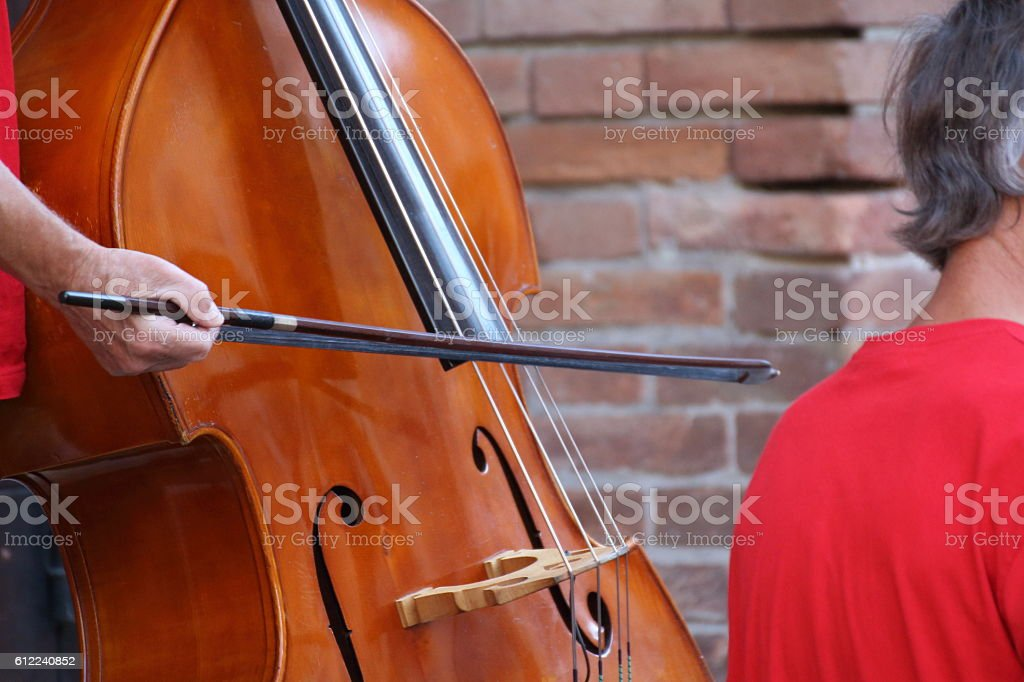 Artists perform in the street. Buskers Festival stock photo
