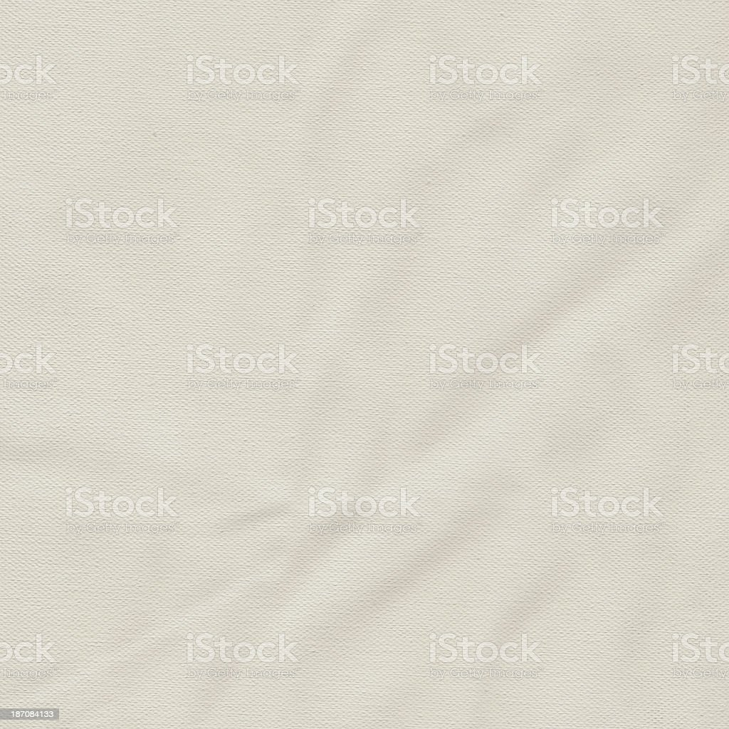 Artist's Primed Cotton Duck Canvas Crumpled Grunge Texture royalty-free stock photo