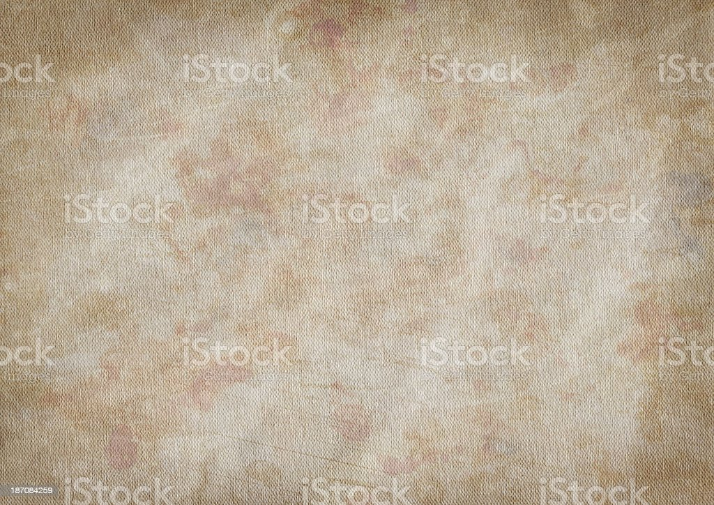 Artist's Primed Cotton Duck Canvas Crumpled Mottled Vignette Grunge Texture royalty-free stock photo