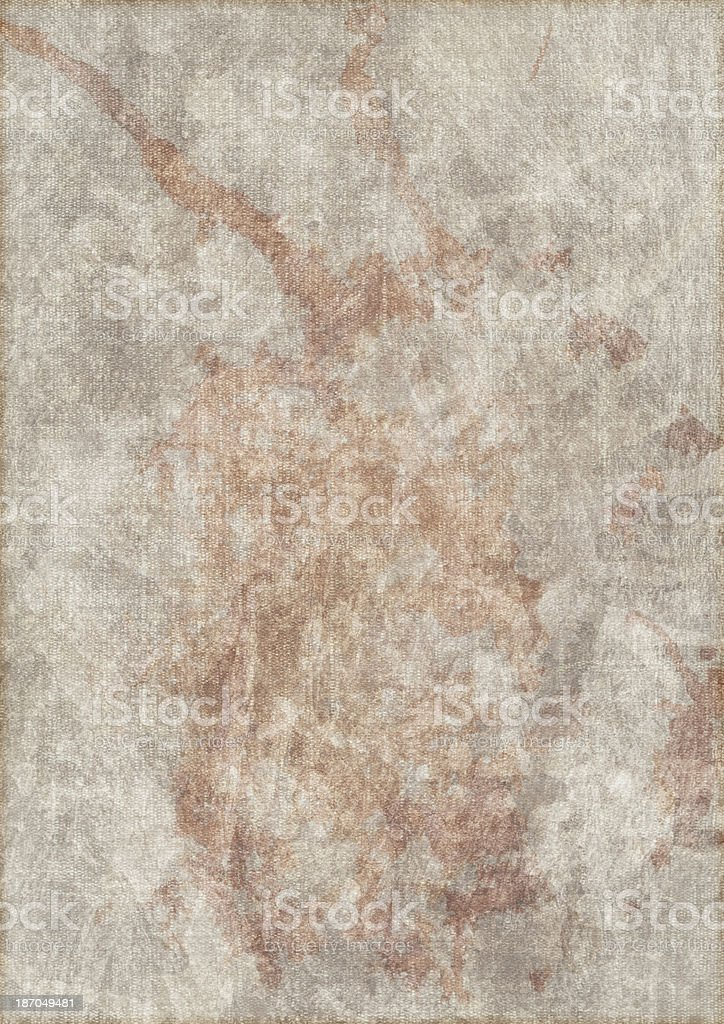 Artist's Primed Linen Duck Canvas Mottled Grunge Texture royalty-free stock photo