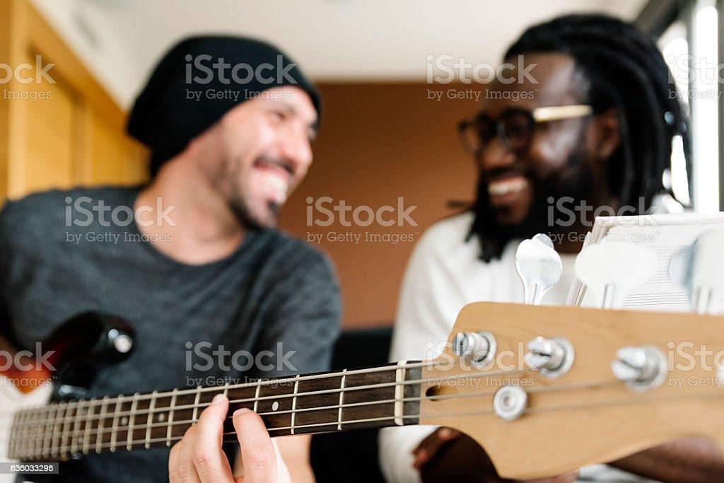 Artists producing music. stock photo