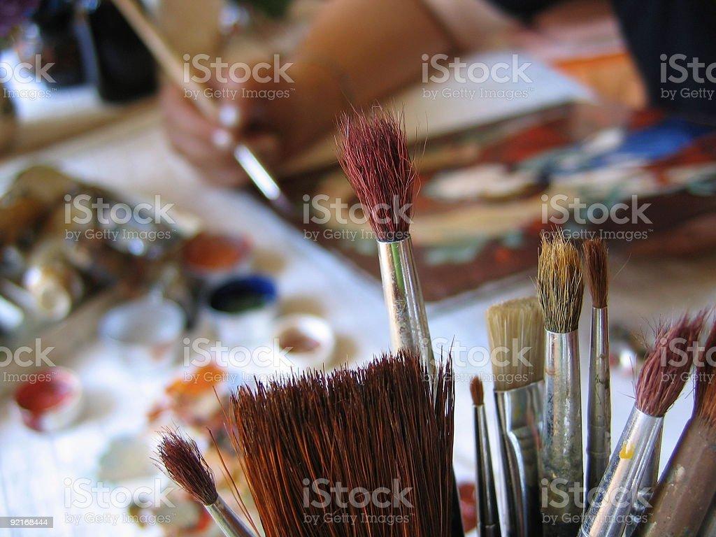 Artist's Studio (I) royalty-free stock photo