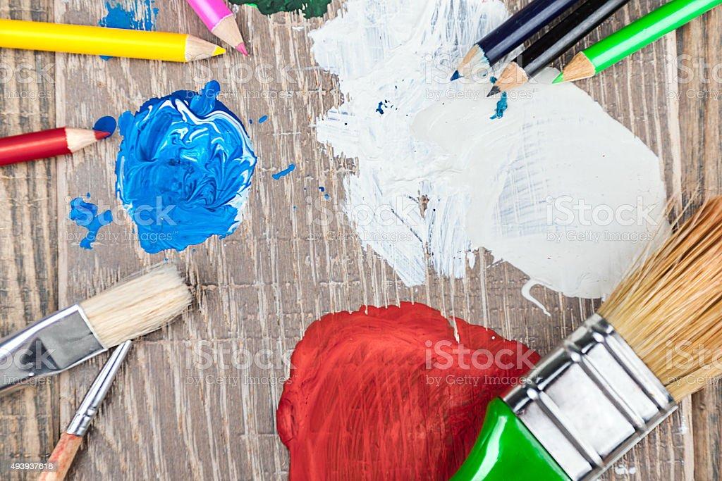 artist's tools stock photo