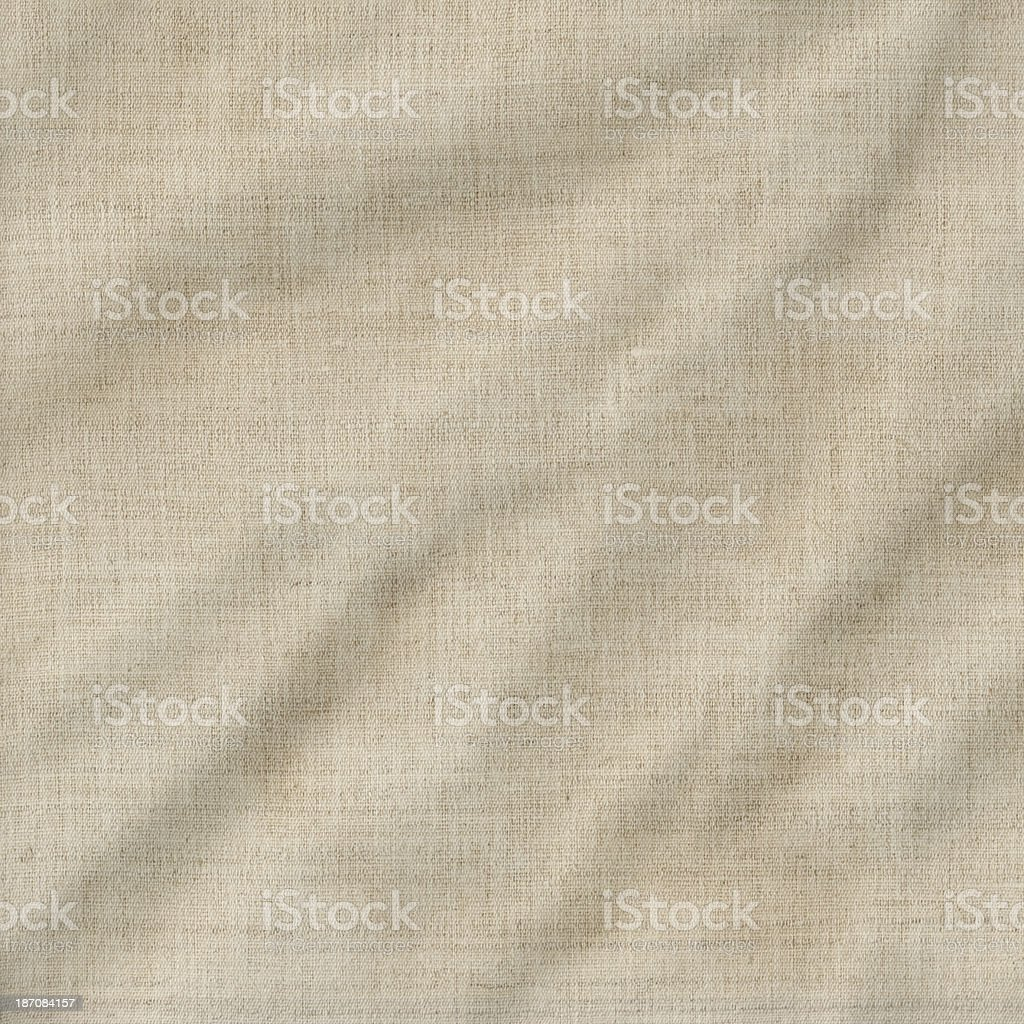 Artist's Unprimed Cotton Duck Canvas Crumpled Grunge Texture royalty-free stock photo