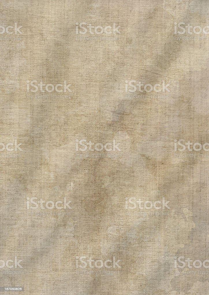 Artist's Unprimed Crumpled Linen Canvas Mottled Grunge Texture stock photo