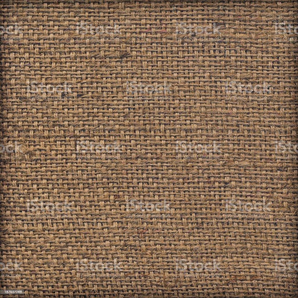 Artist's Unprimed Jute Canvas Coarse Vignette Grunge Texture stock photo