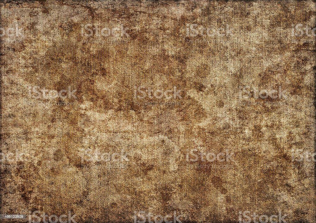 Artist's Unprimed Linen Canvas Mottled Vignette Grunge Texture stock photo