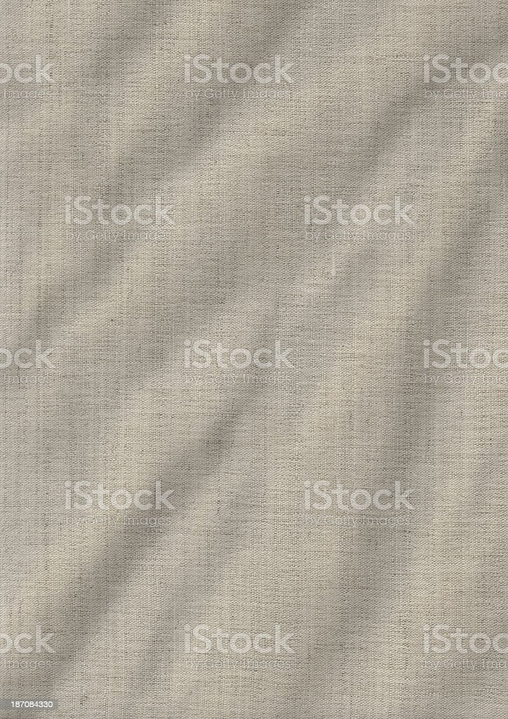 Artist's Unprimed Linen Duck Canvas Crumpled Grunge Texture royalty-free stock photo