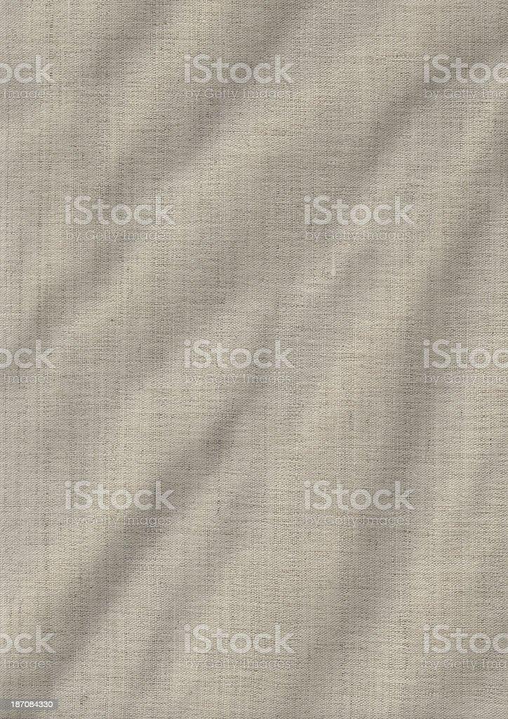 Artist's Unprimed Linen Duck Canvas Crumpled Grunge Texture stock photo