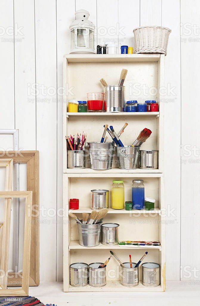 Artist's workshop royalty-free stock photo