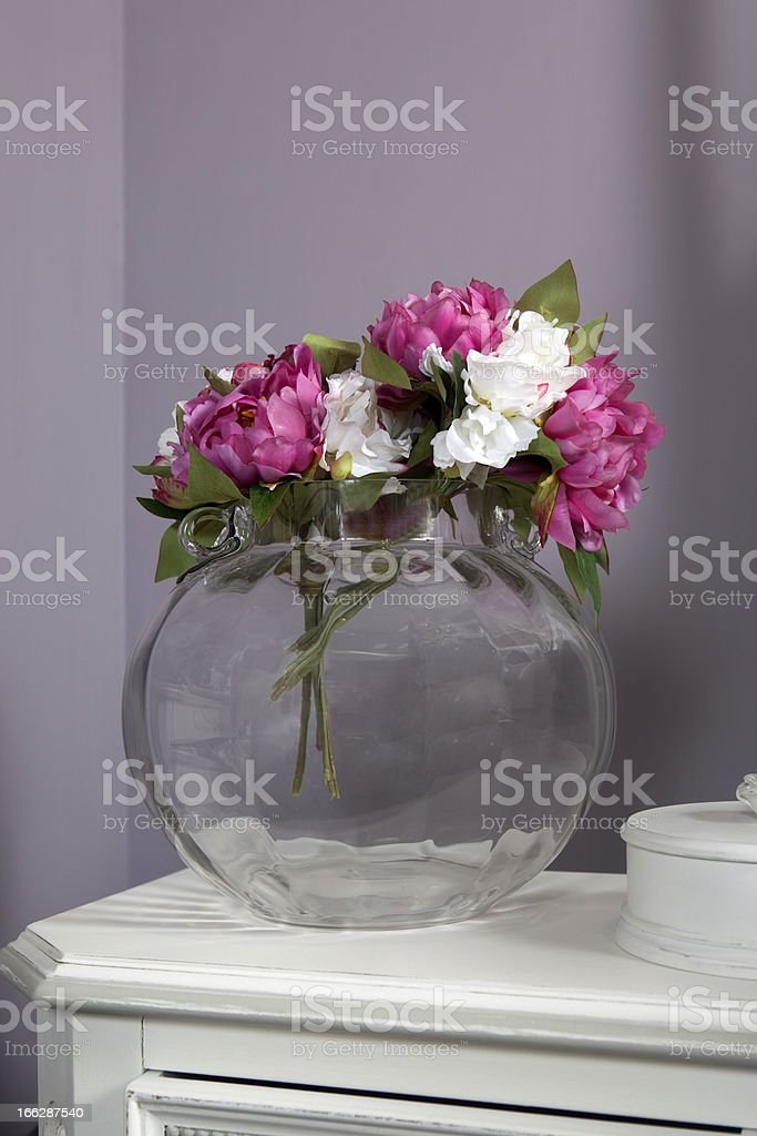 artivicial pink and white peony royalty-free stock photo