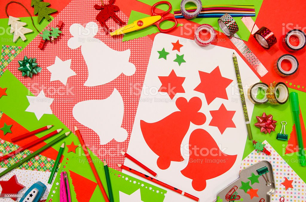 Delightful Craft Supplies Christmas Part - 13: Arts And Craft Supplies For Christmas. Royalty-free Stock Photo