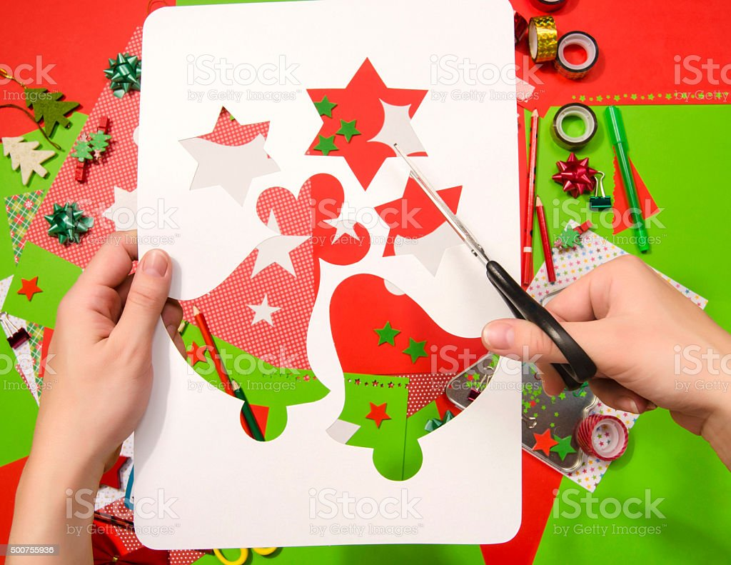 Craft Supplies Christmas Part - 18: Arts And Craft Supplies For Christmas. Royalty-free Stock Photo