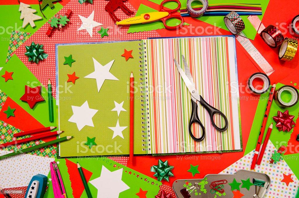 Beautiful Craft Supplies Christmas Part - 12: Arts And Craft Supplies For Christmas. Royalty-free Stock Photo