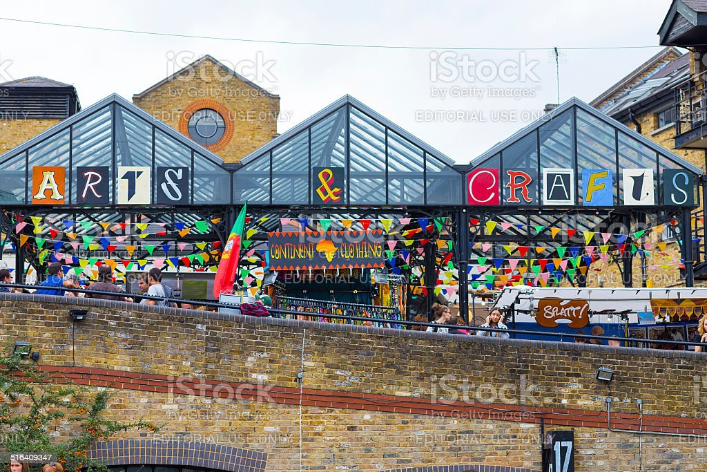Arts and Crafts Store Camden stock photo