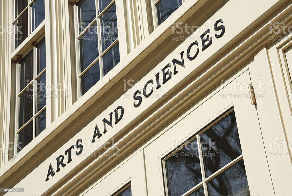 Arts and Sciences Sign royalty-free stock photo