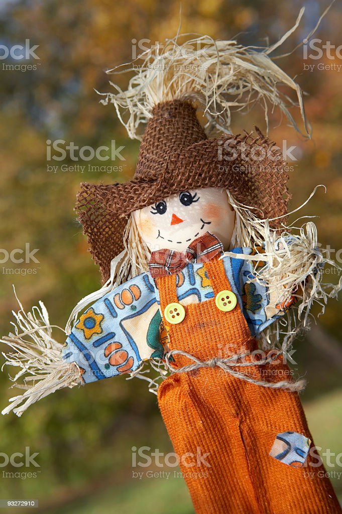 Arts & Crafts Scarecrow royalty-free stock photo