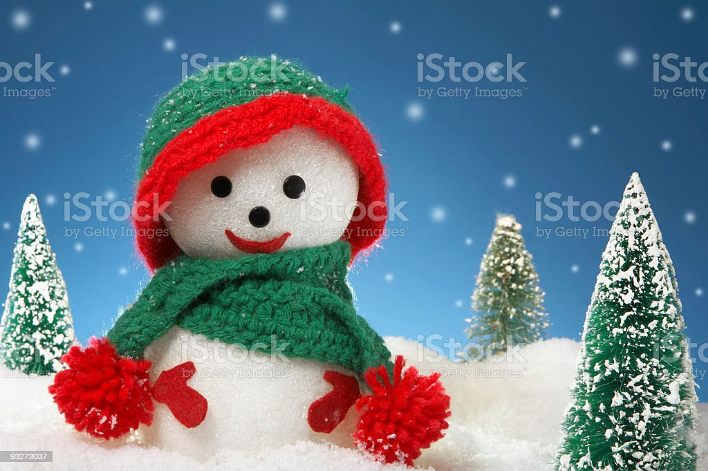 Arts & Crafts Snowman royalty-free stock photo