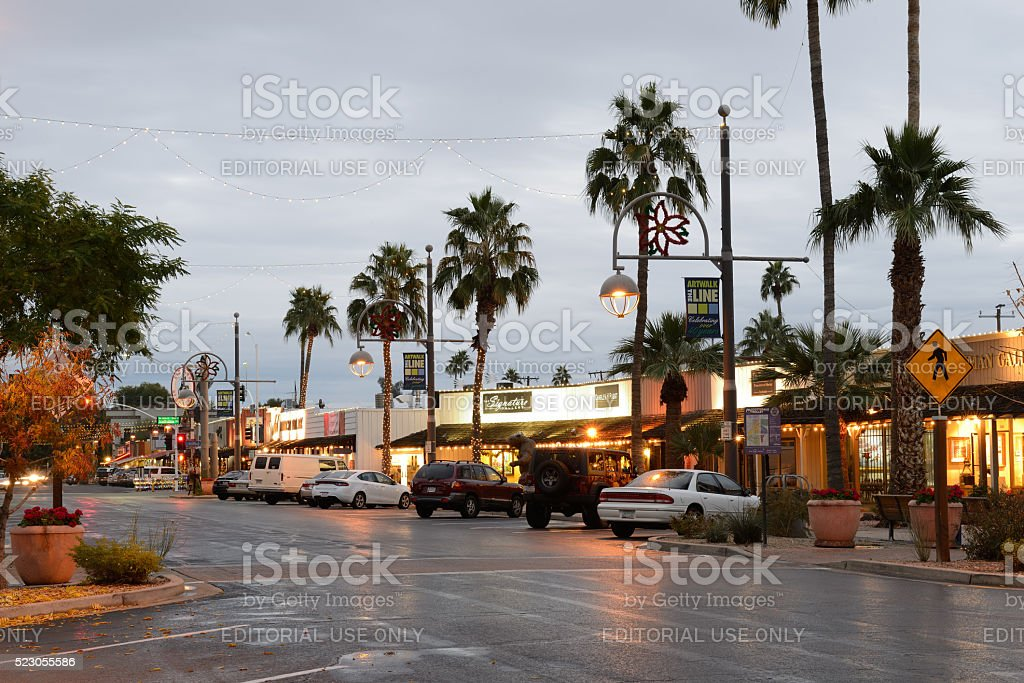 Arts District in Scottsdale of Arizona stock photo