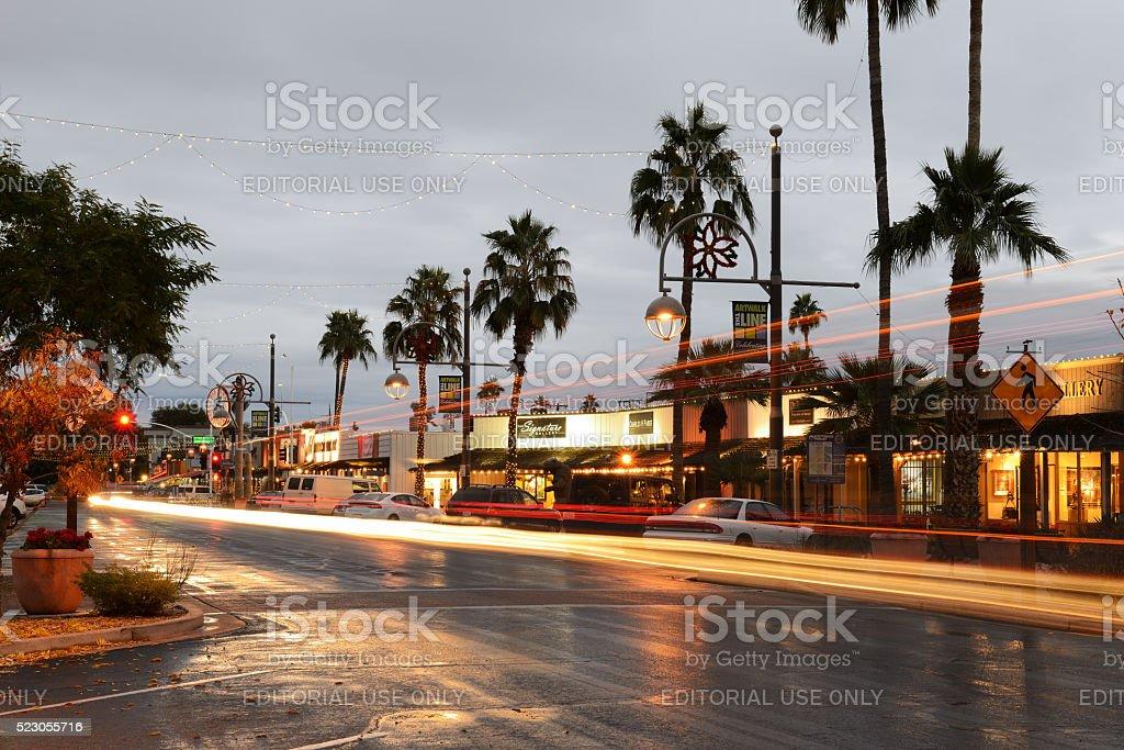 Arts District of Scottsdale in Arizona stock photo