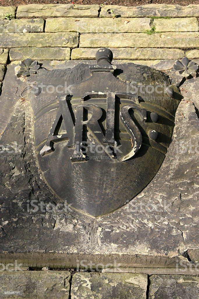 Arts emblem royalty-free stock photo