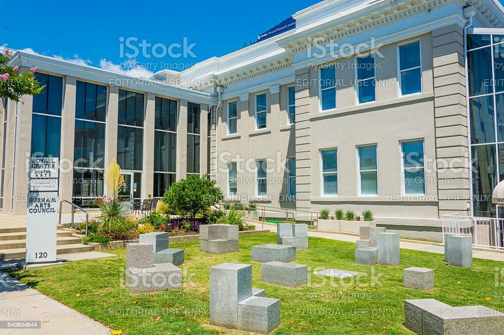 Arts Institute building in Durham, North Carolina stock photo