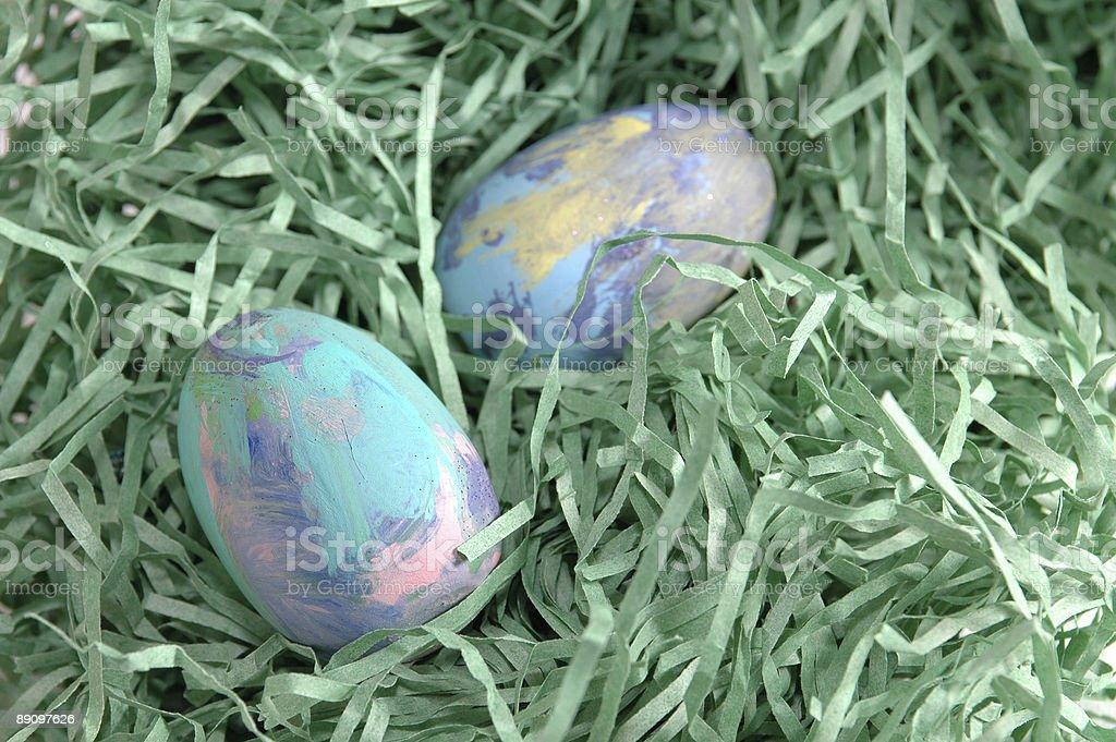 Artsy Eggs royalty-free stock photo