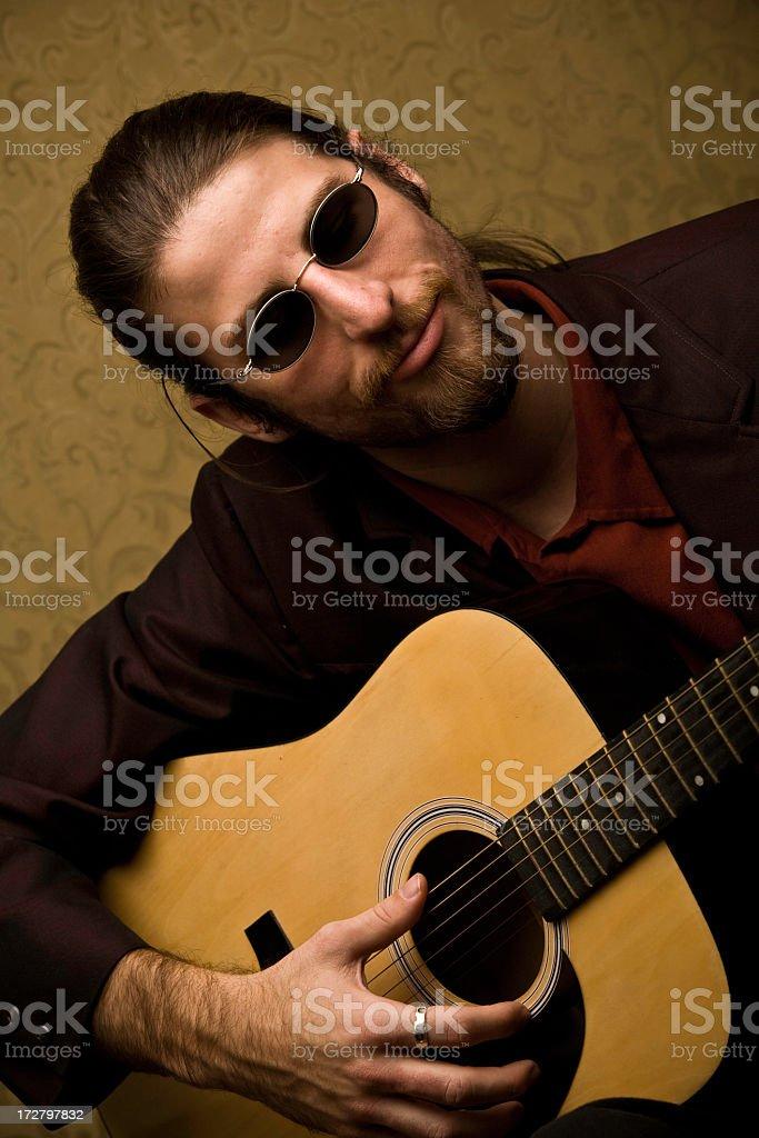 Artsy Musician stock photo