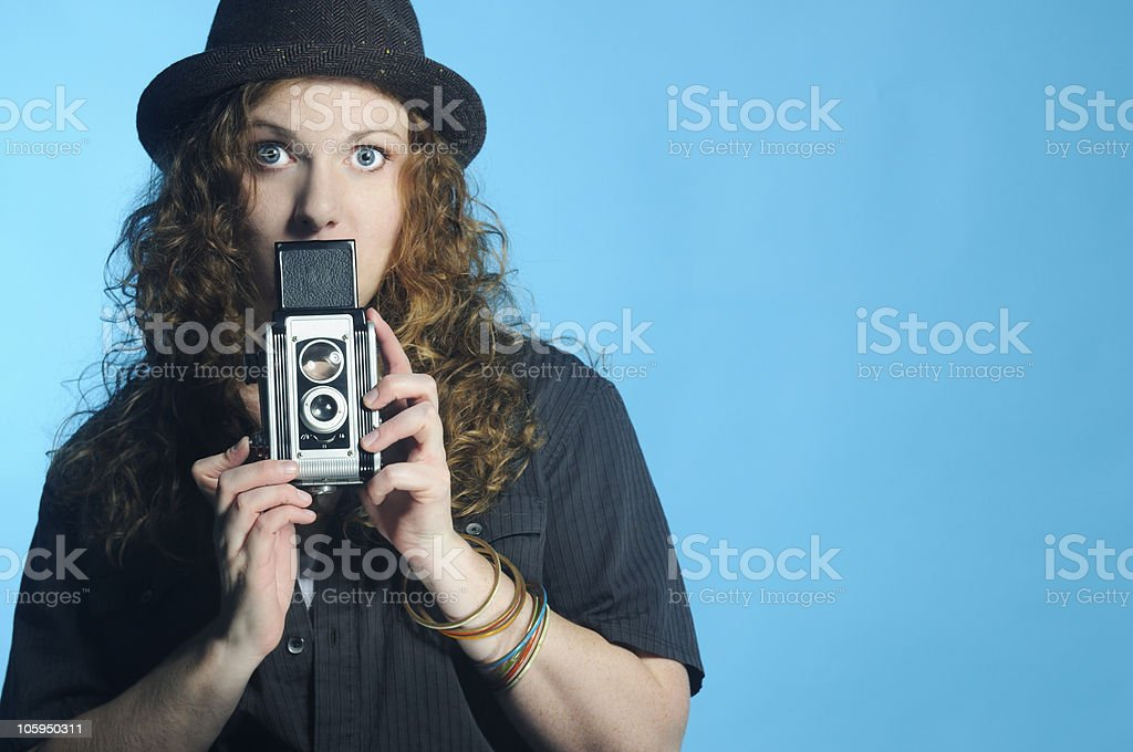 Artsy Photographer with Copyspace royalty-free stock photo