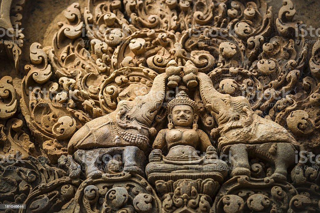 Artwork - Angkor Wat, Cambodia royalty-free stock photo