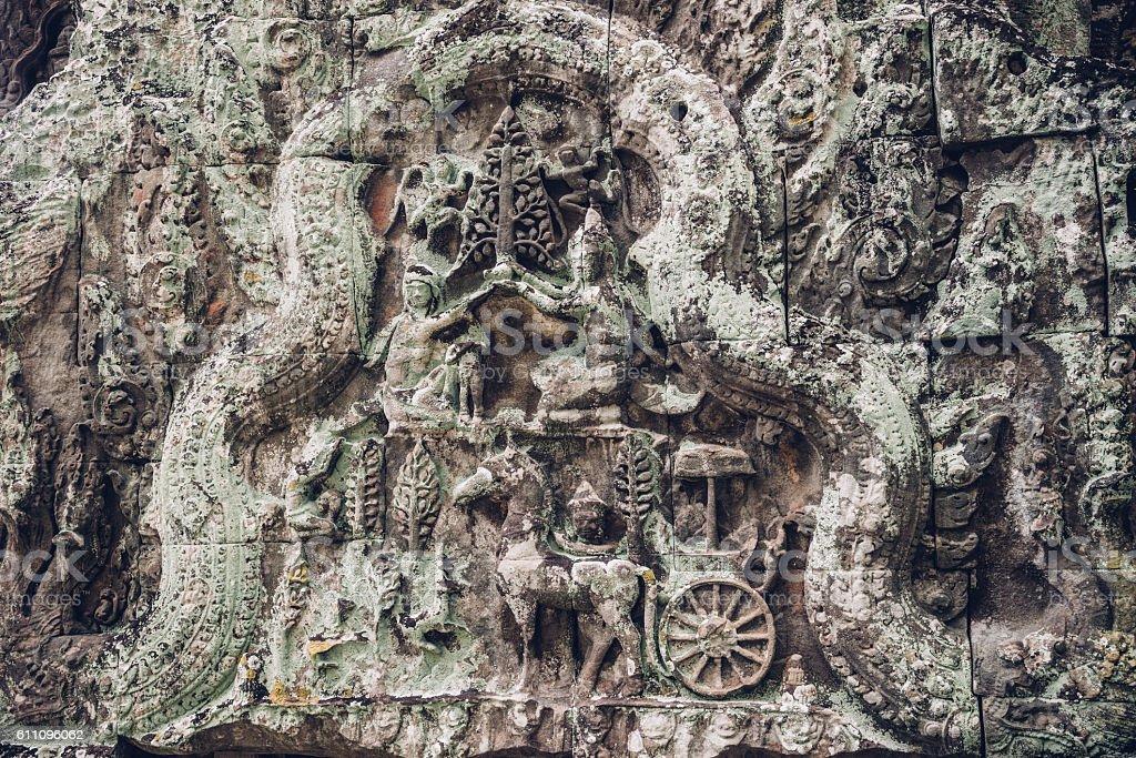 Artwork - Angkor Wat, Cambodia stock photo