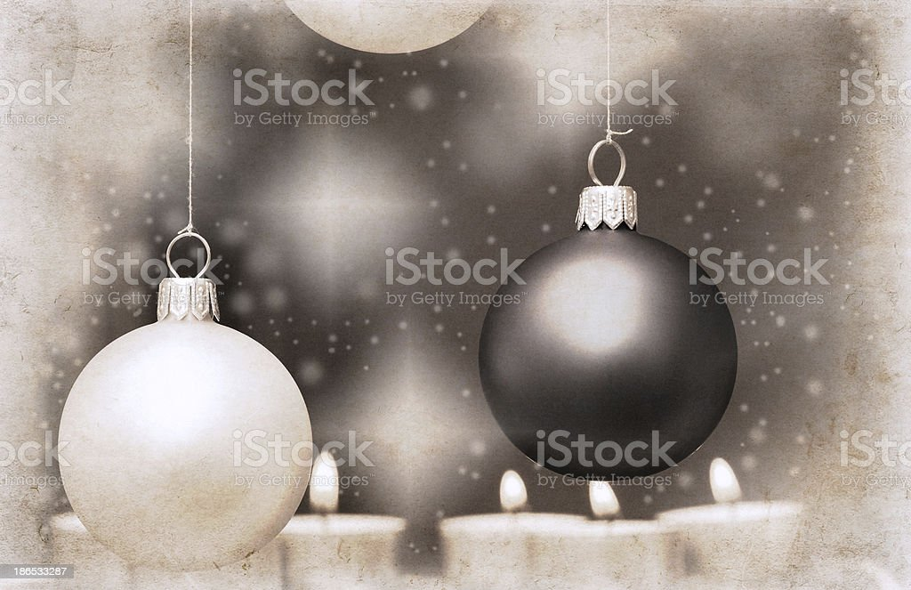 artwork  in retro style,  New Year's card royalty-free stock photo