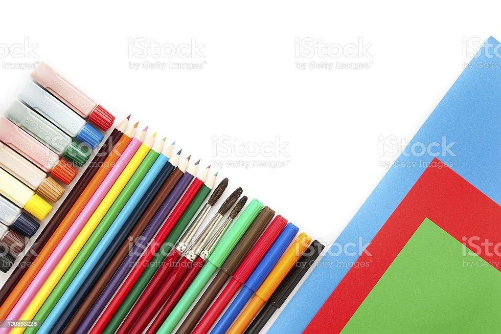Artwork tools royalty-free stock photo