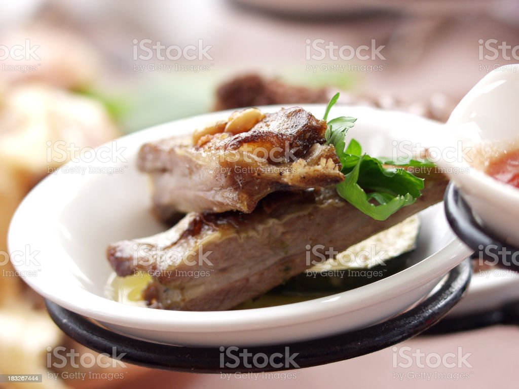 Arty meat entree royalty-free stock photo