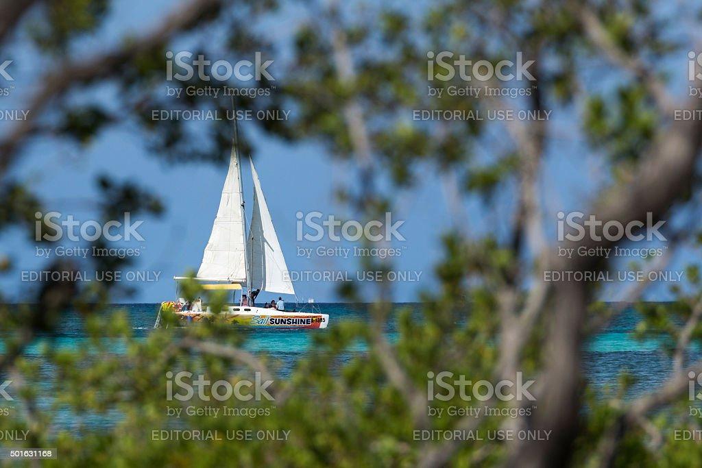 Aruba sunshine royalty-free stock photo
