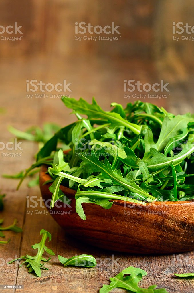 Arugula leaves. stock photo