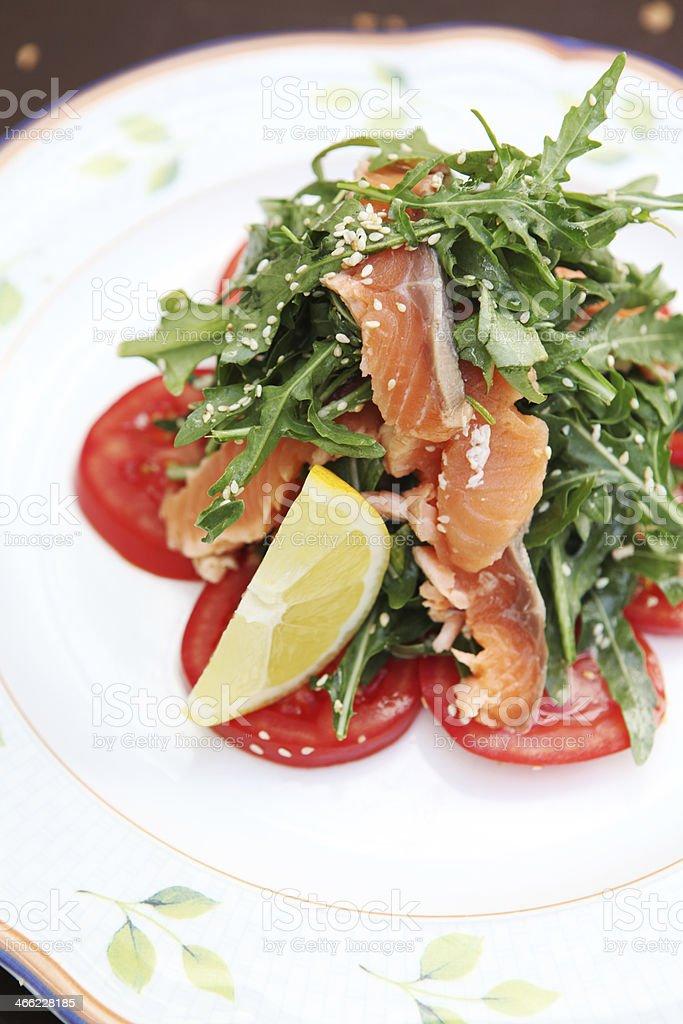 Arugula salad royalty-free stock photo