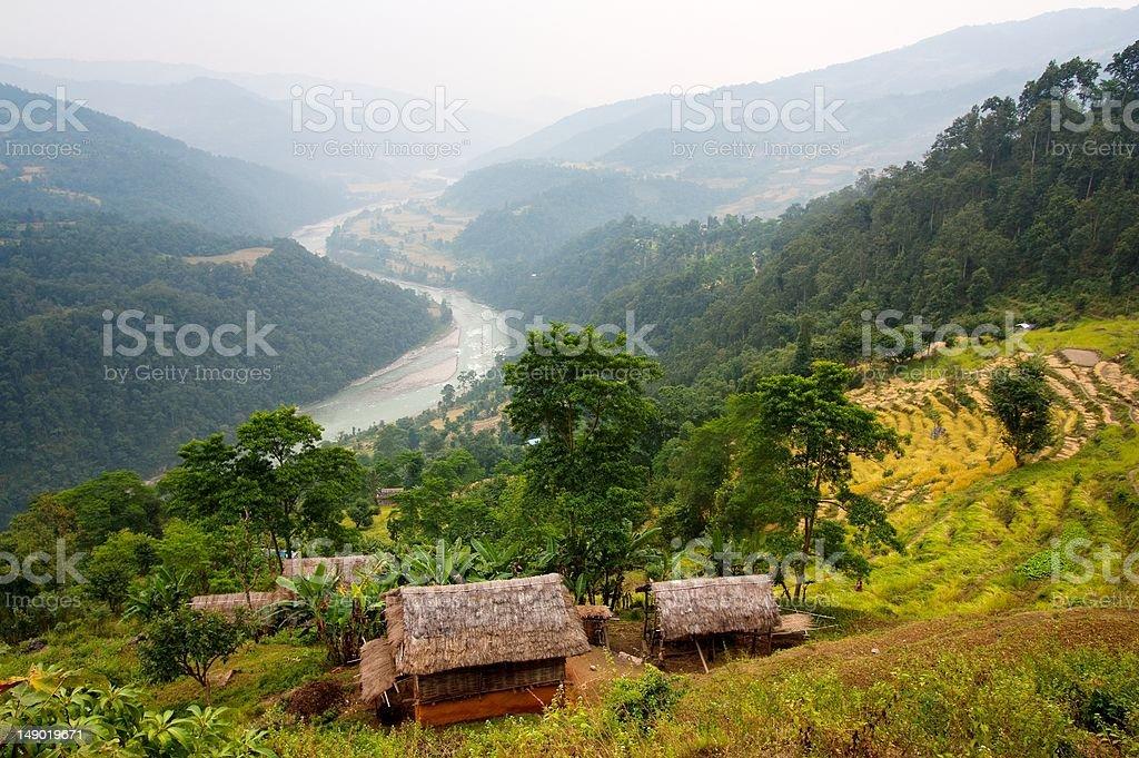 arun valley-Népal photo libre de droits