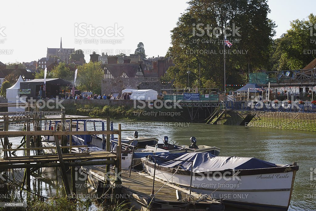 Arundel riverside. Sussex. England royalty-free stock photo